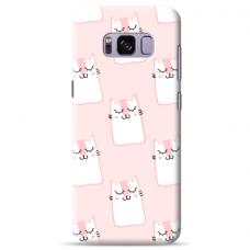 """Tpu Dėklas Unikaliu Dizainu 1.0 Mm """"U-Case Airskin Pink Kato Design"""" Samsung Galaxy S8 Plus Telefonui"""