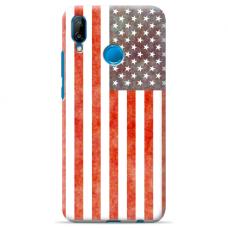 "Tpu Dėklas Unikaliu Dizainu 1.0 Mm ""U-Case Airskin Usa Design"" Huawei P20 Lite Telefonui"