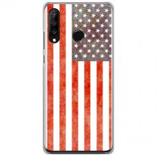 "Tpu Dėklas Unikaliu Dizainu 1.0 Mm ""U-Case Airskin Usa Design"" Huawei P30 Lite Telefonui"