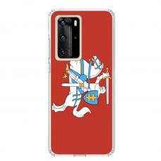 """Tpu Dėklas Unikaliu Dizainu 1.0 Mm """"U-Case Airskin Vytis Design"""" Huawei P40 Pro Telefonui"""