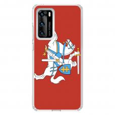 """Tpu Dėklas Unikaliu Dizainu 1.0 Mm """"U-Case Airskin Vytis Design"""" Huawei P40 Telefonui"""