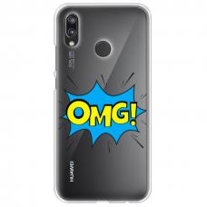 "Tpu Dėklas Unikaliu Dizainu 1.0 Mm ""U-Case Airskin Omg Design"" Huawei P20 Lite Telefonui"