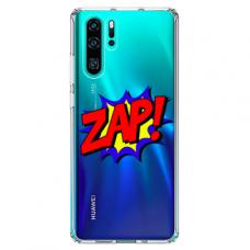 "Tpu Dėklas Unikaliu Dizainu 1.0 Mm ""U-Case Airskin Zap Design"" Huawei P30 Pro Telefonui"