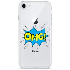 """Tpu Dėklas Unikaliu Dizainu 1.0 Mm """"U-Case Airskin Omg Design"""" Iphone 7 Plus / Iphone 8 Plus Telefonui"""