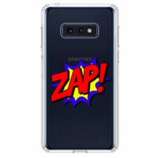"Tpu Dėklas Unikaliu Dizainu 1.0 Mm ""U-Case Airskin Zap Design"" Samsung Galaxy S10E Telefonui"