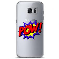 """Tpu Dėklas Unikaliu Dizainu 1.0 Mm """"U-Case Airskin Pow Design"""" Samsung Galaxy S6 Edge Telefonui"""