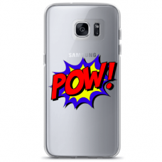 "Tpu Dėklas Unikaliu Dizainu 1.0 Mm ""U-Case Airskin Pow Design"" Samsung Galaxy A5 2017 Telefonui"