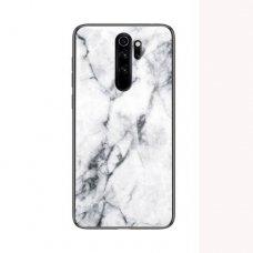 "Tpu Dėklas ""Wozinsky Marble"" Xiaomi Redmi Note 8 Pro Baltas"