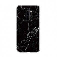 "TPU DĖKLAS ""Wozinsky Marble"" Xiaomi Redmi Note 8 Pro JUODAS   UCS134"