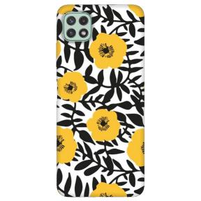 "TPU dėklas unikaliu dizainu 1.0 mm ""u-case Airskin Flowers 2 design"" Samsung Galaxy A22 5G telefonui"