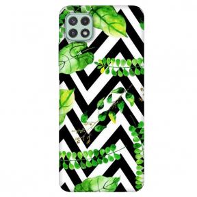 """TPU dėklas unikaliu dizainu 1.0 mm """"u-case Airskin Leaves 2 design"""" Samsung Galaxy A22 5G telefonui"""