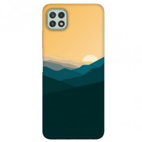 "TPU dėklas unikaliu dizainu 1.0 mm ""u-case Airskin Mountains 2 design"" Samsung Galaxy A22 5G telefonui"