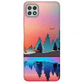 """TPU dėklas unikaliu dizainu 1.0 mm """"u-case Airskin Nature 5 design"""" Samsung Galaxy A22 5G telefonui"""