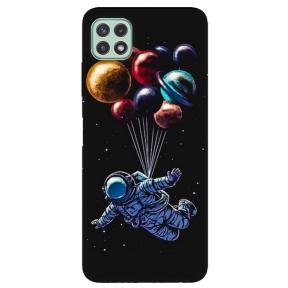 """TPU dėklas unikaliu dizainu 1.0 mm """"u-case Airskin Cosmo design"""" Samsung Galaxy A22 5G telefonui"""