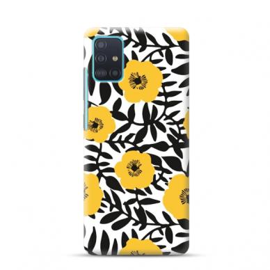 "TPU dėklas unikaliu dizainu 1.0 mm ""u-case Airskin Flowers 2 design"" Samsung Galaxy A51 telefonui"