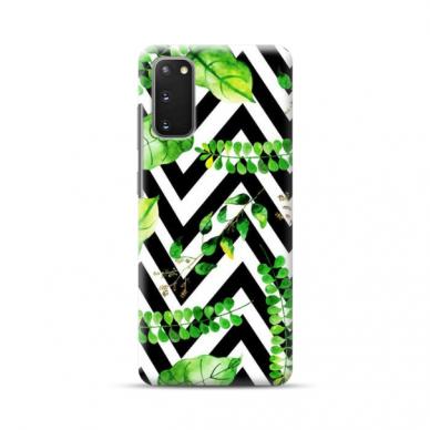"TPU dėklas unikaliu dizainu 1.0 mm ""u-case Airskin Leaves 2 design"" Samsung Galaxy S20 telefonui"