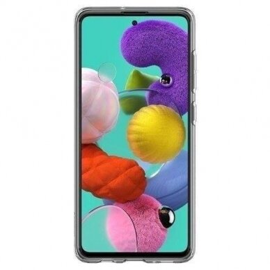 """TPU dėklas unikaliu dizainu 1.0 mm """"u-case Airskin Blue design"""" Samsung Galaxy A51 telefonui 2"""