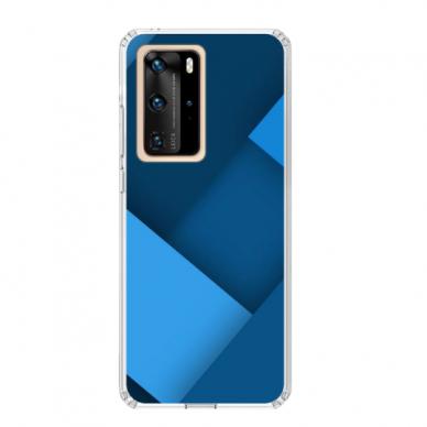 "TPU dėklas unikaliu dizainu 1.0 mm ""u-case Airskin Blue design"" Huawei P40 Pro telefonui"