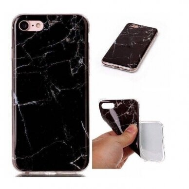 "TPU dėklas unikaliu dizainu 1.0 mm ""u-case Airskin Flowers 1 design"" Huawei P40 Lite E telefonui 4"