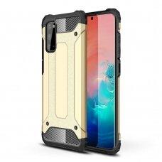 """Tvirtas Apsauginis Dėklas Iš Tpu Ir Pc Plastiko """"Hybrid Armor Rugged"""" Samsung Galaxy A41 Auksinis"""