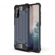 """Tvirtas Apsauginis Dėklas Iš Tpu Ir Pc Plastiko """"Hybrid Armor Rugged"""" Samsung Galaxy A41 Mėlynas"""