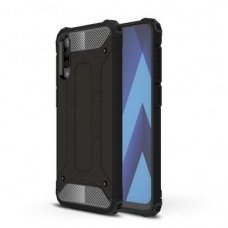 """Tvirtas Apsauginis Dėklas Iš Tpu Ir Pc Plastiko """"Hybrid Armor Rugged"""" Samsung Galaxy A70 Juodas"""