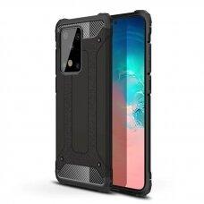 """Tvirtas Apsauginis Dėklas Iš Tpu Ir Pc Plastiko """"Hybrid Armor Rugged"""" Samsung Galaxy S20 Plus Juodas"""