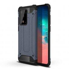 """Tvirtas Apsauginis Dėklas Iš Tpu Ir Pc Plastiko """"Hybrid Armor Rugged"""" Samsung Galaxy S20 Ultra Mėlynas"""