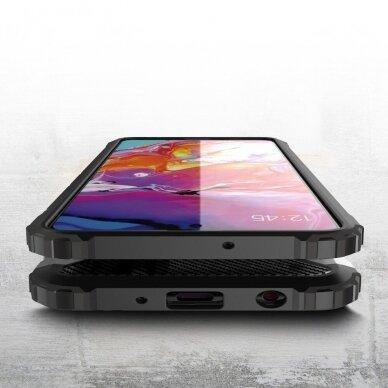 """TVIRTAS APSAUGINIS DĖKLAS IŠ TPU IR PC PLASTIKO """"HYBRID ARMOR RUGGED"""" Samsung Galaxy A51 sidabrinis (ctz006) UCS025 3"""