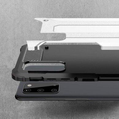 """Tvirtas Apsauginis Dėklas Iš Tpu Ir Pc Plastiko """"Hybrid Armor Rugged"""" Samsung Galaxy S20 Sidabrinis   2"""