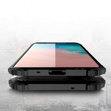 """Tvirtas Apsauginis Dėklas Iš Tpu Ir Pc Plastiko """"Hybrid Armor Rugged"""" Samsung Galaxy S20 Sidabrinis   3"""