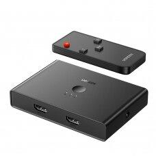 Ugreen 2 x 2 HDMI2.0 Keitiklis Su Audio Garsu Ir 3.5mm Juodas