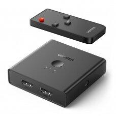 Ugreen 2 x 2 HDMI2.0 Keitiklis Su Optiniu Garsu Ir 3.5mm Juodas