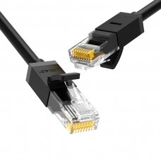 žalias Ethernet patchcord kabelis RJ45 Cat 6 UTP 1000Mbps 1m juodas (20159) (ctz220)