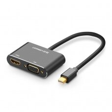 HDMI Kabelis Ugreen / VGA - mini DisplayPort adapter Full HD 1080p Juodas (MD115 20422)