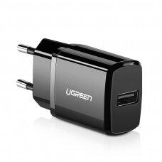 USB Ugreen 2,1A Sieninis Įkroviklis juodas (50459)