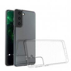 Dėklas Ultra Clear 0.5mm Case Gel TPU Cover for Samsung Galaxy S21 5G Permatomas