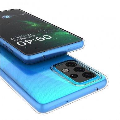 Dėklas Ultra Clear 0.5mm Case Gel TPU Cover for Xiaomi Redmi Note 10 5G Permatomas 5