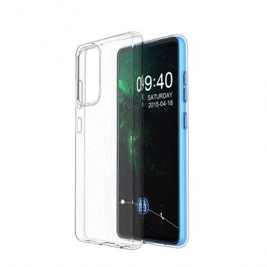 Dėklas Ultra Clear 0.5mm Case Gel TPU Cover for Xiaomi Redmi Note 10 5G Permatomas 7
