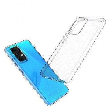 Dėklas Ultra Clear 0.5mm Case Gel TPU Cover for Xiaomi Redmi Note 10 5G Permatomas 8