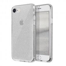 Uniq Lifepro Tinsel Protective Case skirta Iphone Se 2020 / Iphone 8 / Iphone 7 Transparent