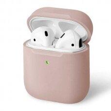 UNIQ Lino protective case skirta AirPods 2 / AirPods 1 rožinis