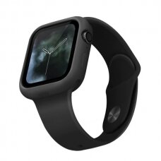 UNIQ Lino protective case skirta Watch 5 44mm / Watch 4 44mm juodas