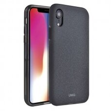 UNIQ Lithos dėklas iPhone XR juodas (ctz013)