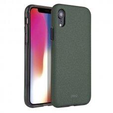 UNIQ Lithos dėklas iPhone XR Olive tamsiai žalia (ctz013) USC061