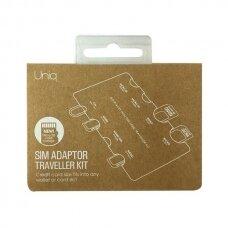 UNIQ Sim Adapter Traveller Kit 7in1 organizer