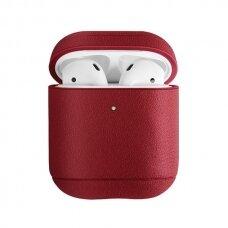 UNIQ Terra protective case skirta AirPods 2 / AirPods 1 raudonas