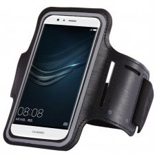 "UNIVERSAL RUNNING ARMBAND FOR 6"" SMARTPHONES BLACK"
