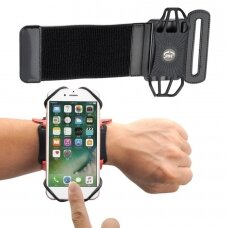 "Universal Running Forearm Armband skirta 6"" Smartphones black"