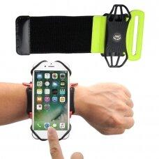 "Universal Running Forearm Armband skirta 6"" Smartphones green"